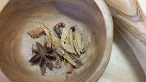 Ingredientes mortero infusion navidad