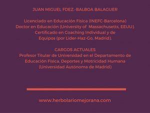 Juan Miguel Fernández Balboa Herbolario Mejorana