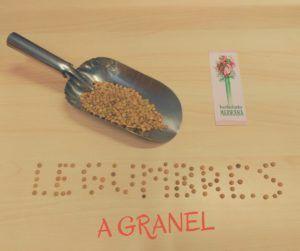 A granel: legumbres a granel en el herbolario Mejorana de Guadalajara