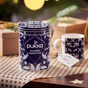 Lata de infusiones + taza de la marca Pukka - Ideal para regalar a un amante de la variedad